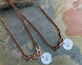 Antiqued Copper Finished Chain, Antiqued Copper Plated curved  Chain,  Necklace Chain for the Pendant Necklace,Chains for the necklace