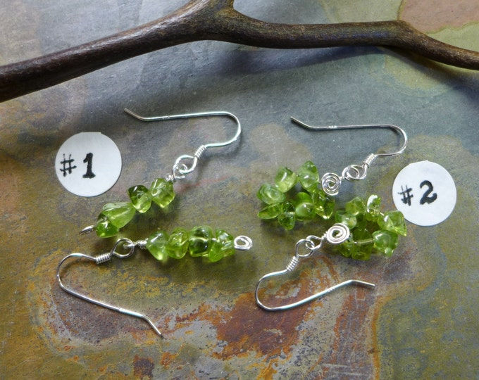 Peridot Earring-Wire Wrapped Peridot Gemstone Earrings -Matching Earrings for the Peridot Tree of Life Pendant  Necklace - August Birthstone