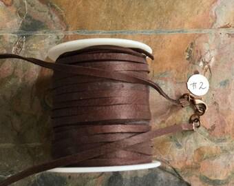 Deerskin Lace Leather, Deerskin Leather 3 mm Width, Aqua blue & Navy blue  1/8 Inch width,