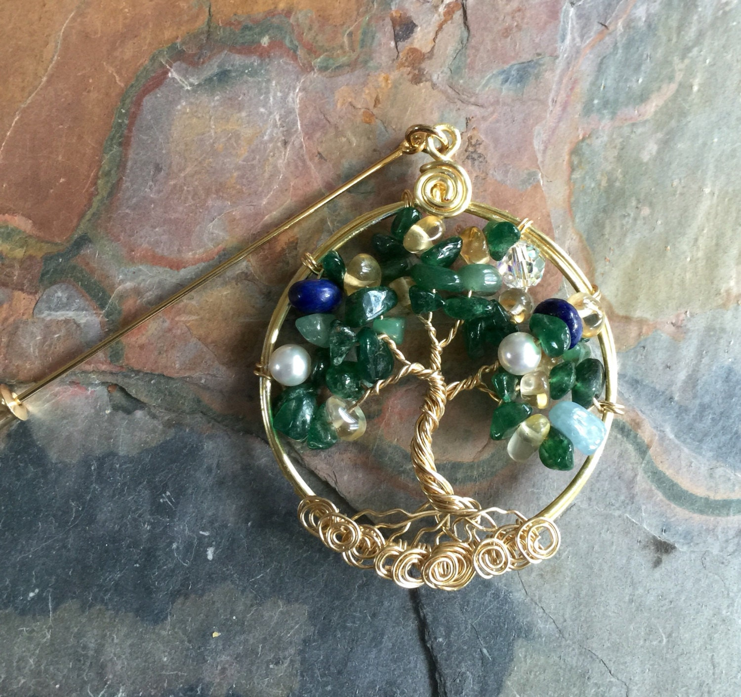Holiday Brooch,Mothers Day Gift, Family Tree of Life Brooch,Lapel ...