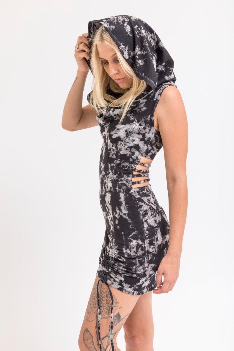 Sustainable Fashion Eco Textile Organic Cotton Hood Dress