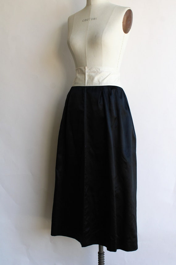 Vintage 1910s Black Skirt / Antique Black Silk Sa… - image 6