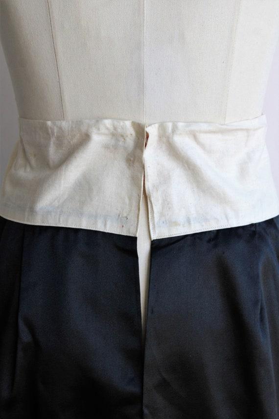 Vintage 1910s Black Skirt / Antique Black Silk Sa… - image 8
