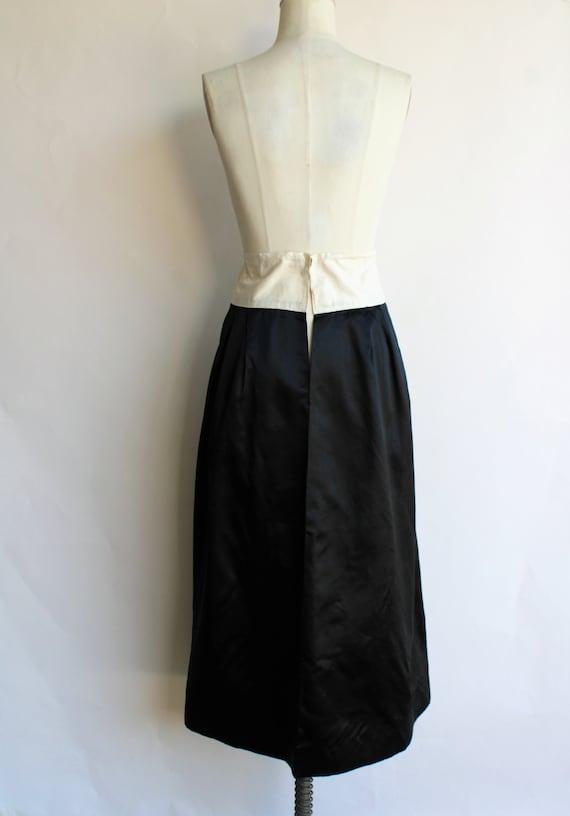 Vintage 1910s Black Skirt / Antique Black Silk Sa… - image 7