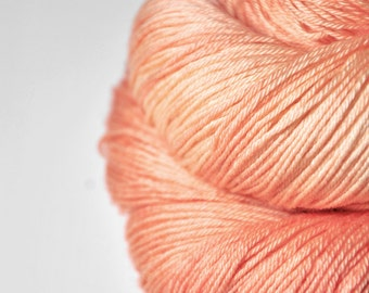 Pale plastic flamingo OOAK  - Merino/Silk Fingering Yarn Superwash