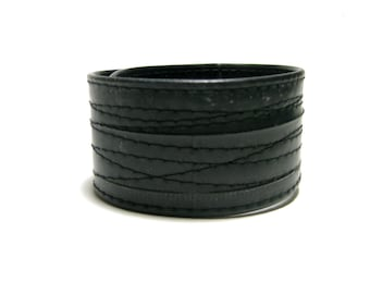 Black Thin Bike Tube Cuff
