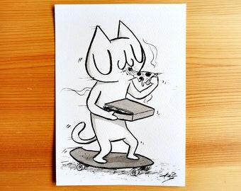 Cruisin' - Original Ink Drawing