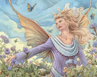 Meadow Faery and Butterflies 8.5x11 signed Print