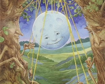 Hanging the Moon Fairies Signed 8.5x11 Print