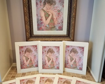 Rose Limited Edition Signed, Numbered, Matted and Remarqued Print
