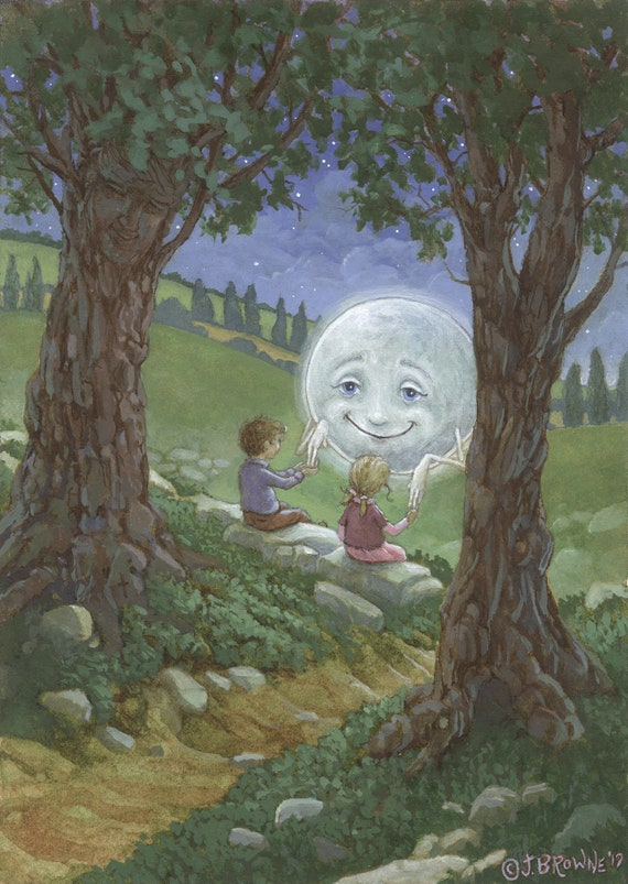 Touched By The Moon 8.5x11 Signed Print with Story Included