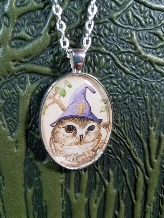 Saw Whet Owl Pendant Necklace