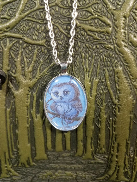 Little Light Owl Pendant Necklace