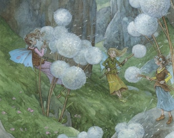 Whispering Winds Fairy Original Watercolor Illustration