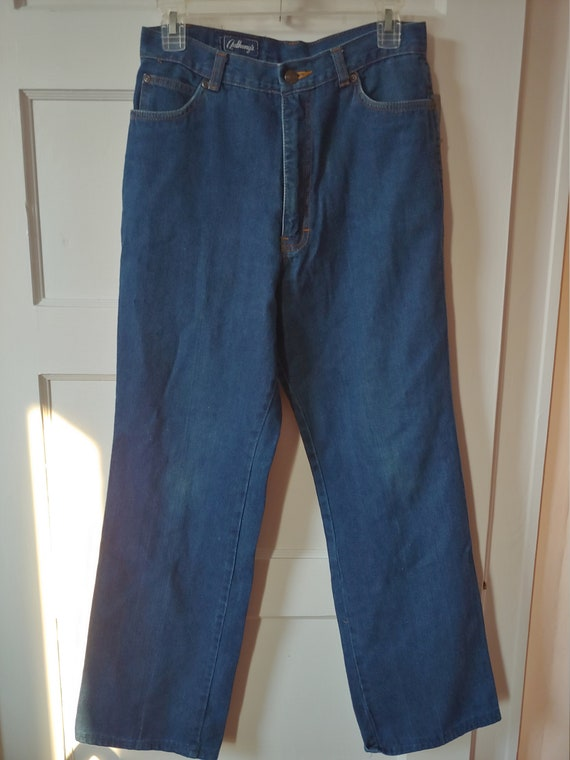 Vintage 1970s early 80s light weight cotton denim