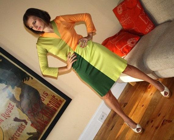 Emilio Pucci Vintage Color Block Dress