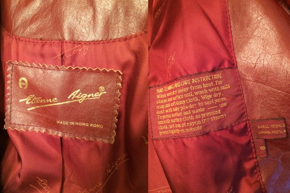 Vintage Etienne Aigner 1970s Leather Trench - image 4