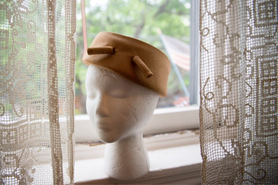 1960s Balenciaga Golden Pillbox Hat