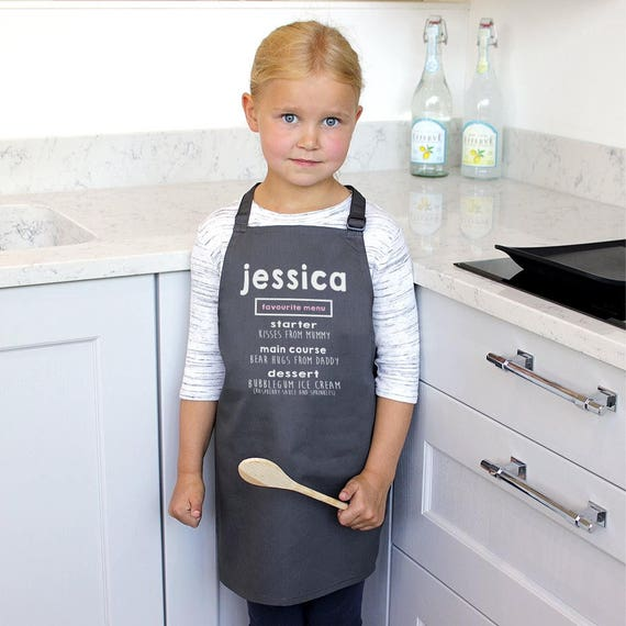 children/'s gift toddler apron Personalised kids apron adult cooking apron baking apron children/'s apron adult apron unisex kids apron