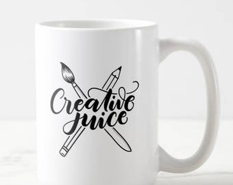 Mug - Creative juice - Mug for artist, calligraphers, lettering artist, painters, crafters