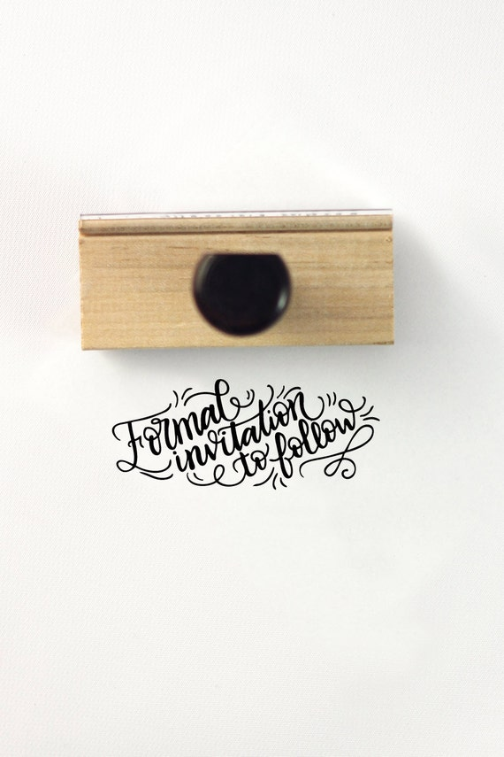 Formal invitation to follow save the date stamp diy wedding from 2199 stopboris Images