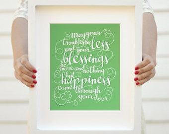 Art print - Irish blessing - St. Patricks Day