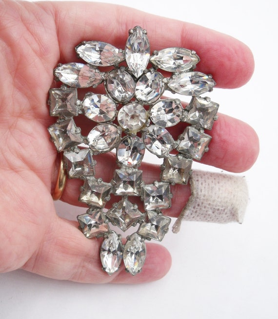Giant thirties sparkly brooch