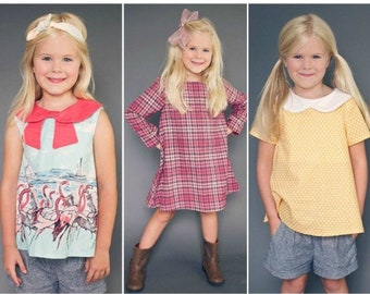 The Norah Dress and Tunic PDF Sewing Pattern:  Sizes 12 months to 12 Years