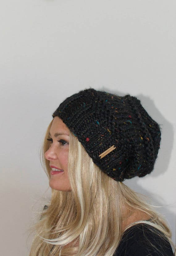 Slouchy Beanie Slouchy Hat Oversized Baggy Beanie Chunky women  666d01f4f23