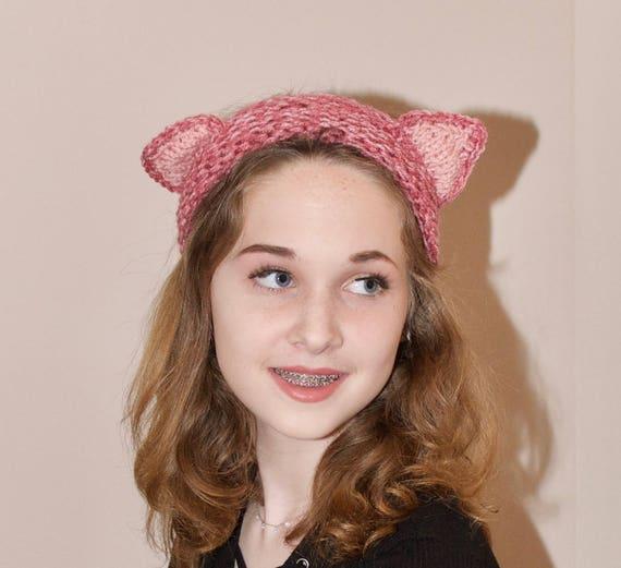 Katze Ohren Stirnband rosa Katze Ohren Stirnband Ohr wärmer | Etsy