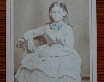 CDV Indiana 1800's Sepia Photograph FREE SHIPPING
