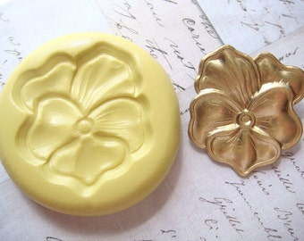 PANSY FLOWER (large) - Flexible Silicone Mold - Push Mold, Polymer Clay Mold, Pmc Mold, Resin Mold