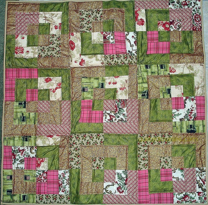 Custom Made Lap Quilt Patchwork Quilt Geometric Quilt FREE US Shipping Reduced Int/'l Shipping Bento Box Quilt
