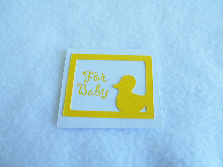 Baby-Geschenk-Tags. die geschnittene gelbe Ente   Etsy
