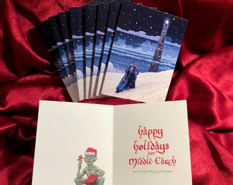 GANDALF Lord of the Rings CHRISTMAS CARD 10 Pack!