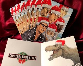 JURASSIC PARK 10 Pack CHRISTMAS Cards!