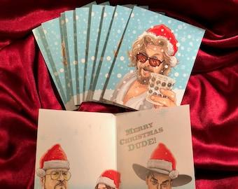 BIG LEBOWSKI 10 Pack Christmas CARDS!