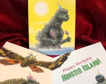 GODZILLA Birthday Card!