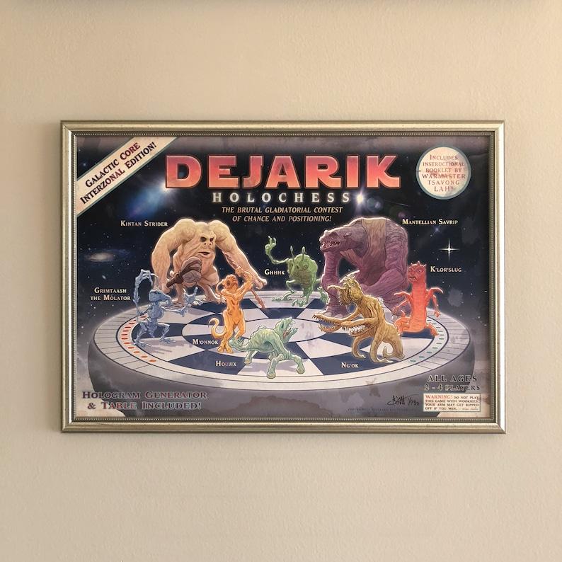 STAR WARS 13x19 Dejarik Holochess Limited Edtion PRINT image 0