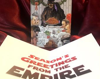 STAR WARS Darth Vader Emperor Christmas CARD!
