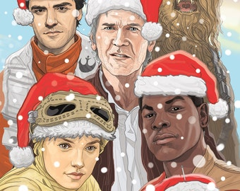 STAR WARS Force Awakens Christmas Card