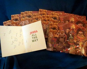Star Wars 10 Pack Jabba Bells Christmas Card