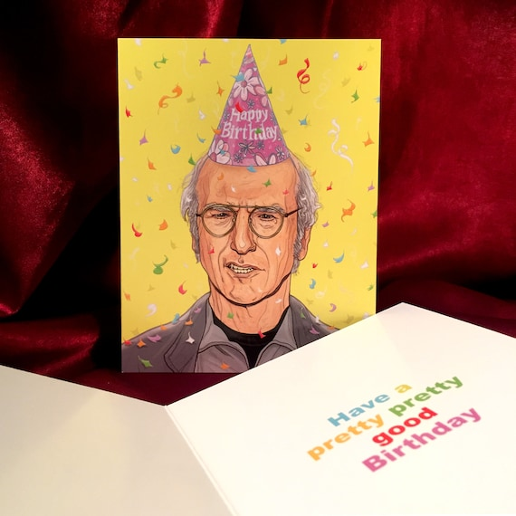 Larry David Birthday Card Etsy