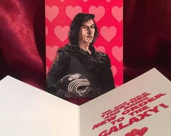 KYLO REN Star Wars VALENTINE'S Day Card!