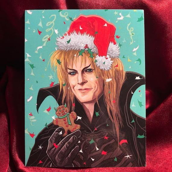 LABYRINTH Personalised Christmas Card bowie jareth goblin happy xmas holiday