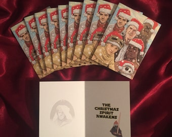 STAR WARS Force Awakens Christmas Card 10 PACK!