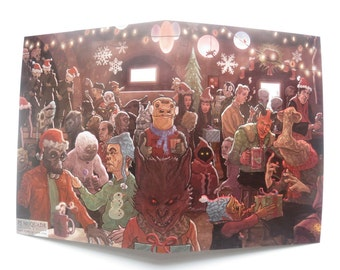Star Wars Cantina Christmas Card Scene