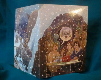 Star Wars Christmas Card Hoth Echo Base Hangar