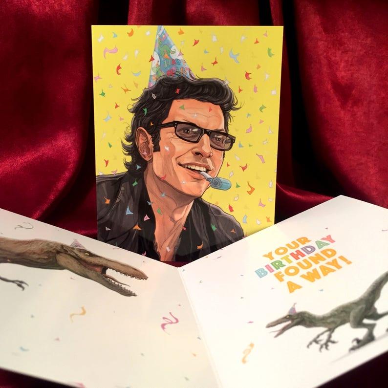JURASSIC PARK Birthday Card with Ian Malcolm image 0