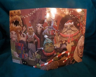 Star Wars Christmas Card Jabba Bells